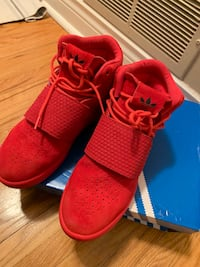 red adidas sneakers good condition....