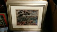 brown wooden framed painting of trees Niagara Falls