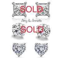 Amy & Annette Sterling Silver Swarovski Stud Earrings Richmond Hill, L4B