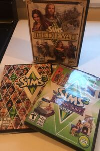 Sims 3 the sims master suite & sims medieval pc games $5 for all  Cambridge, N1R 2T9