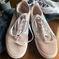 Vans Pink & White Women's Shoes 9.5 Chicago, 60630