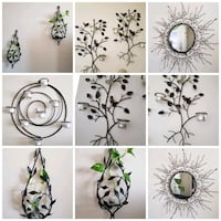 Wall Photo and 6  Wrought Iron Wall Hangings