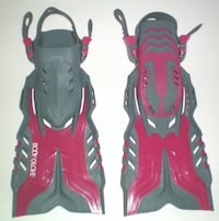 Body Glove Adjustable Open Foot Fins Junior Large to Xlarge US Size 1 - 4