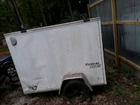white and black enclosed trailer Lawrenceville, 30044