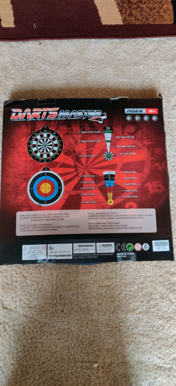 Magnetic dart board 12 PC's magnetic dart excellent indoor game party 1856a2b3-9dc8-4a97-9459-52effb5b0577