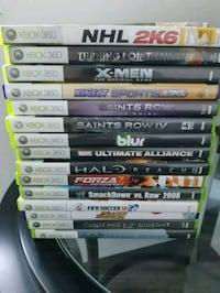 assorted Xbox 360 game cases Vancouver, V5X 1N4