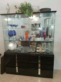 Beautiful glass Hutch with drawers for storage.  Lake Worth, 33467