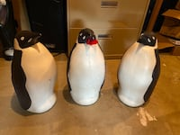 Christmas Penguin Blow Molds