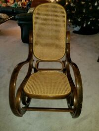 brown wooden framed brown padded armchair Toronto, M2N 7E2