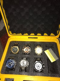 The picture shows six I have all watches except the blue Newport News, 23602