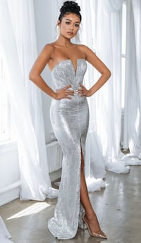 Silver Sequin Formal Party Dress Westfield, 07090
