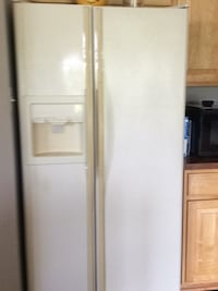 white side-by-side refrigerator with dispenser Frederick, 21701