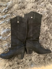 Frye Soft Leather Black Boots Los Angeles, 91326