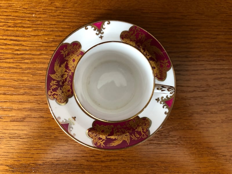 $10 for 2!! Gorgeous Vintage Bone China Espresso Cups and Saucers 96d87e2b-03a4-463e-8047-b262dd799a6a