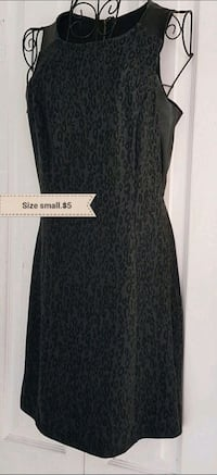 Black leopard dress 787 km