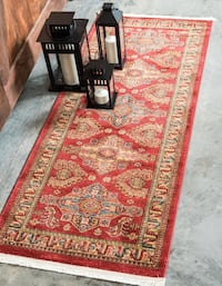 new Persian design carpet runner size 2.7x10 red rug runner Turkmen Burke, 22015
