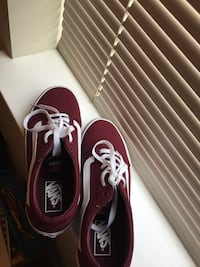 Pair of burgundy vans low-top sneakers  Washington, 20019