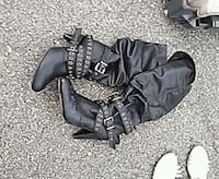 pair of black leather boots Asheville, 28806