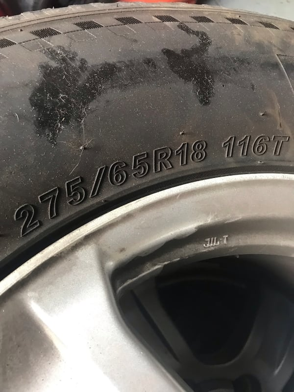 Selling used wheels and  tires 275/65R18 5lug. Tires have about 500 miles on them.  Excellent condition  . Please only if   you are seriously interested contact me. Have a blessed day . $375 930461a4-fb2a-40fe-8389-f325aeae4cd6