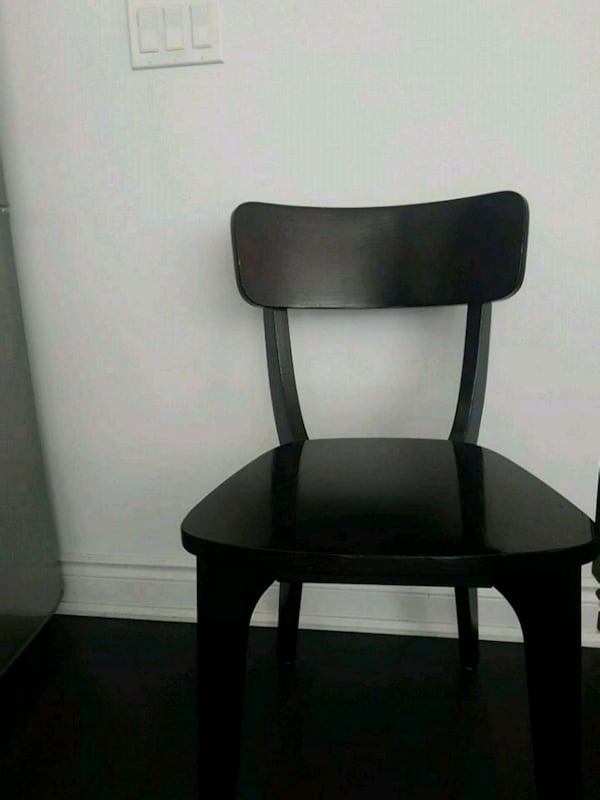2 black dining room chairs 1