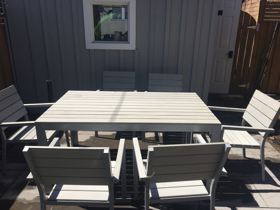 IKEA FALSTER Outdoor Table And 6 Armchairs