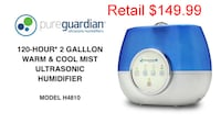 Pureguardian 120 hr Warm Cool Mist Humidifier Lanham