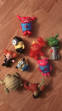 toddler's assorted-color of movie character toy lot