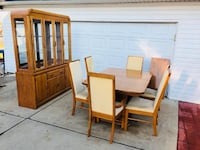 Dining Set - Chairs - Table - China Cabinet - Hutch - Furniture Woodridge