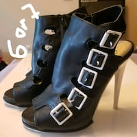 pair of black leather boots Halifax, B3H 4M2