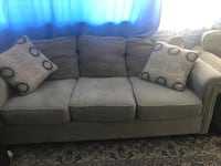 gray fabric 3-seat sofa ON, M4H 1L5