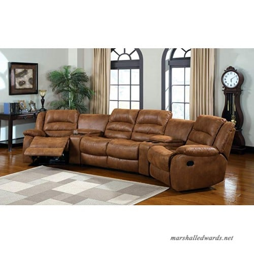 America Camden 4-Piece micro fiber Sectional Sofa with Recliners