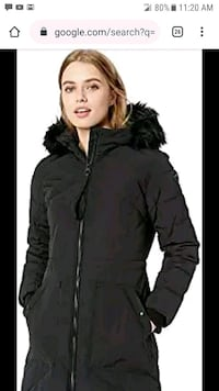 GUESS NWT SMALL BLACK WINTER COAT
