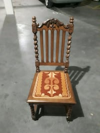 brown and white solid wood chair(look like knew) Kelowna, V1Y 5Z9