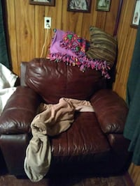 Oversized leather chair Allegan, 49010