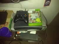 black Xbox 360 console with controller and game cases Williamsville, 14221