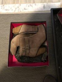 Vince camuti brand new suede booties size 8. 1/2