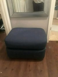 blue fabric foot stool Washington, 20020
