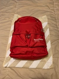Off white backpack , 11365