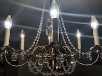 silver-colored and white uplight chandelier WASHINGTON