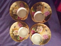 four white-and-red floral ceramic plates Moraine, 45439