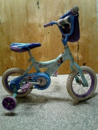 toddler's white and blue bicycle with training whe Baltimore, 21202