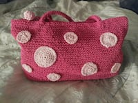 pink and white knitted tote bag Mesa, 85206