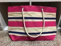 red and blue striped tote bag Austin, 78726