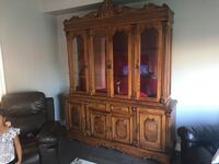 Wall unit with matching table & chairs, solid wood. Cambridge, N3H 0B6