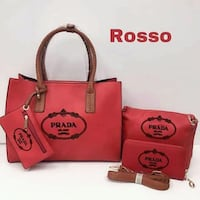 Tote bag Michael Kors in pelle rossa Verona