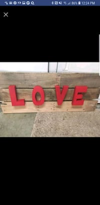 """OBO Handmade wooden """"LOVE"""" wall sign Silverdale, 98383"""