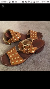 pair of brown leather sandals Miami, 33130