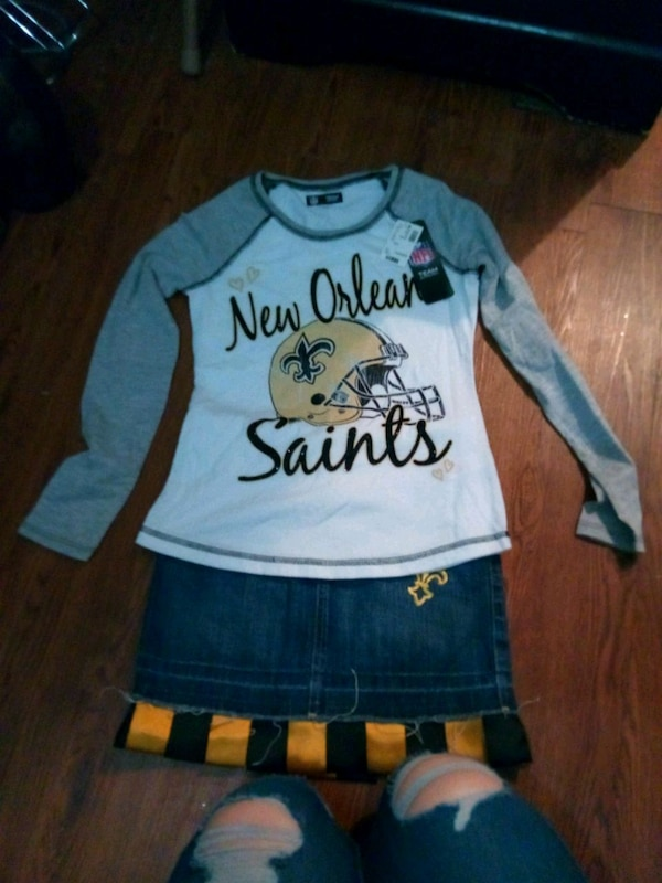 girl's saints outfit