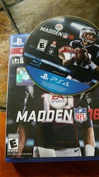 Madden NFL 18 PS4 game case Loxahatchee, 33470