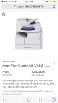 Xerox Workcentre Printer & photocopier new and unopened Rockville, 20854
